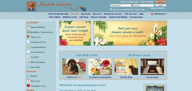 Best Sites Digest Best Sites for ECards – Jacquie Lawson Birthday Cards