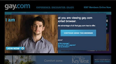 Online gay dating site