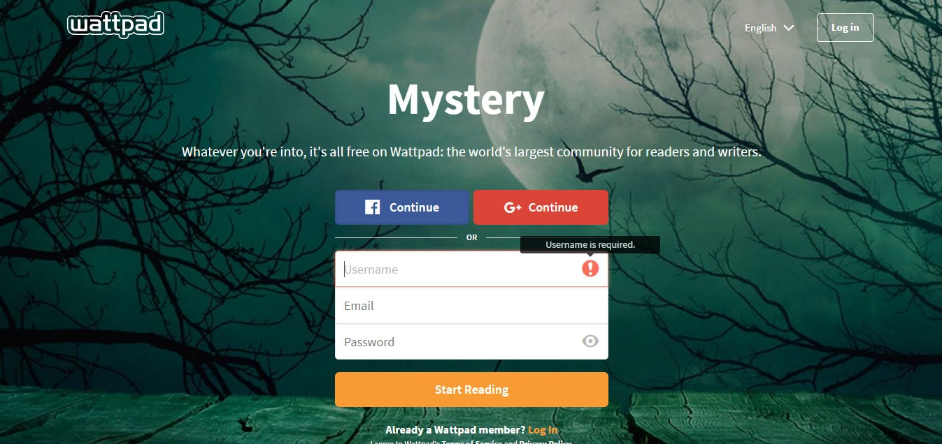 Good writing sites like wattpad