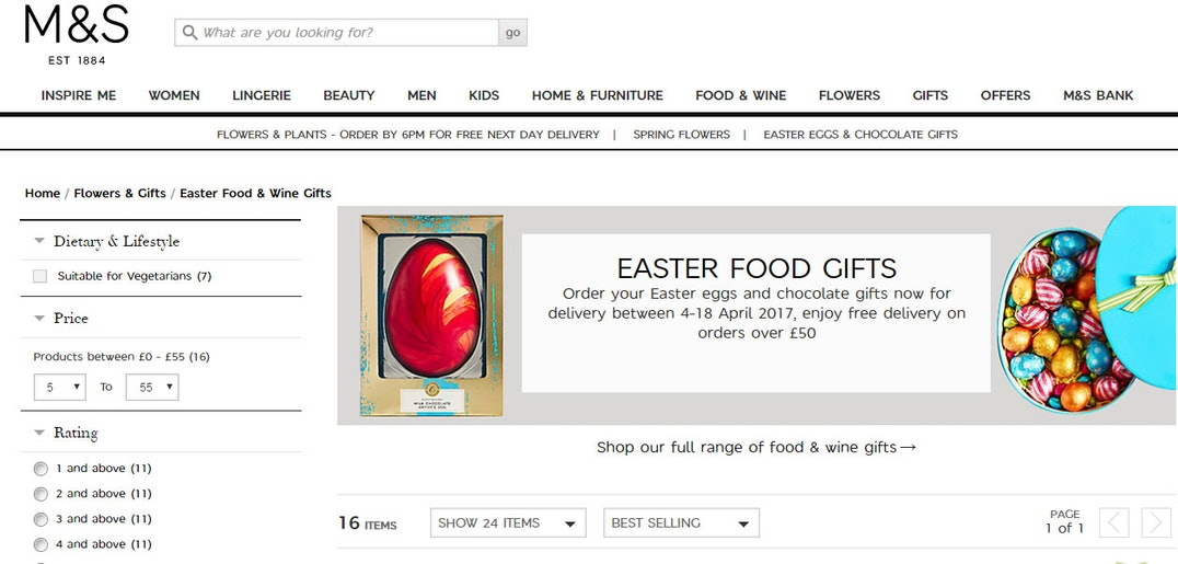 Best sites for easter eggs best sites digest the good web guide marks spencer always goes to town at easter aside of the crowd pleasing frozen arandelle castle and percy pig offerings special mention goes to the dark negle Image collections